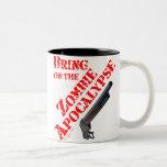 Traiga en la apocalipsis del zombi tazas de café