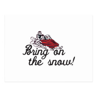 Traiga en la nieve postal