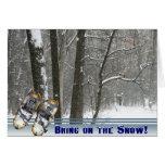 Traiga en la tarjeta de la nieve