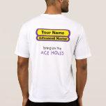 Traiga en los agujeros del as camisetas