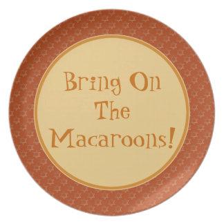 ¡Traiga en los macarrones! Placa de la porción Platos Para Fiestas