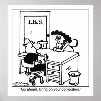 Traiga en sus ordenadores del IRS Póster