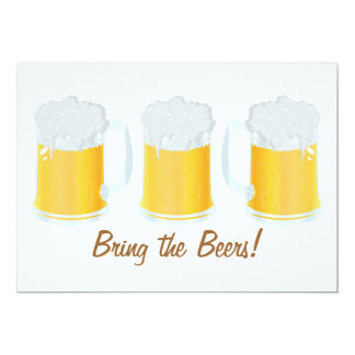 """Traiga las cervezas Beerfest que el fiesta invita Invitación 5"""" X 7"""""""
