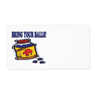 Traiga sus bolas etiqueta de envío