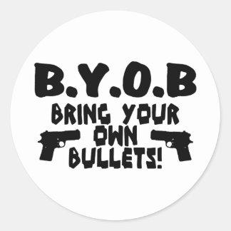Traiga sus propias balas etiquetas