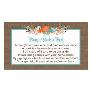 Traiga un libro a las calabazas de la caída de la tarjetas de visita
