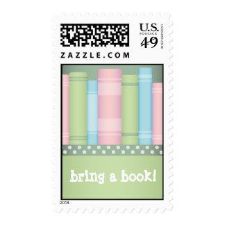 Traiga un libro - sellos de la fiesta de bienvenid