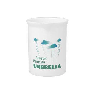 Traiga un paraguas jarron