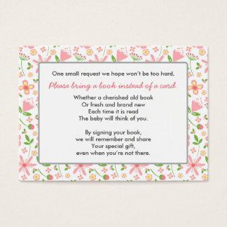 Traiga un verde del rosa de la tarjeta del parte