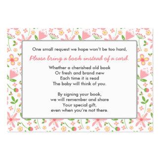 Traiga un verde del rosa de la tarjeta del parte tarjetas de visita grandes