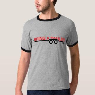 Traiga una camiseta del remolque: Rojo y negro Poleras