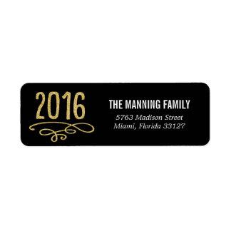 Tráigale 2016 las etiquetas de dirección de la