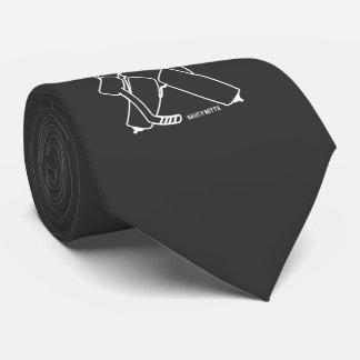 Tráigale el portero del hockey corbata personalizada