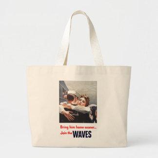 Tráigale el tote enorme casero bolsas lienzo