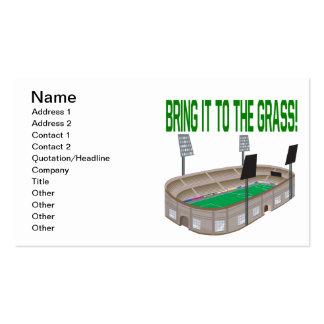 Tráigalo a la hierba plantillas de tarjeta de negocio