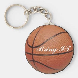 Tráigalo, baloncesto llavero redondo tipo pin