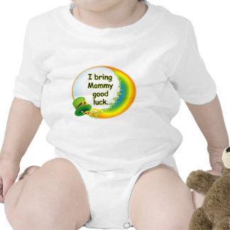 Traigo a mamá buena suerte trajes de bebé