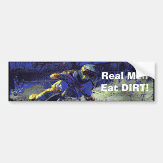 Trail Blazer Motocross Rider Bumper Sticker