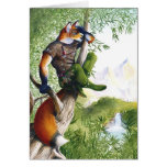 Trail Blazing Fox Greeting Card