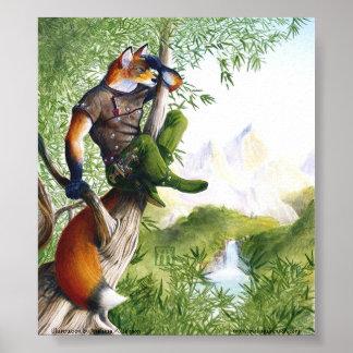 Trail Blazing Fox Print
