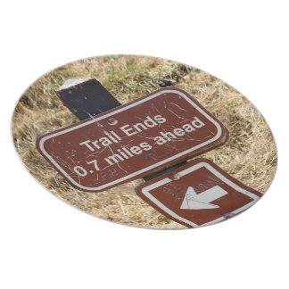 Trail Ends Sign Party Plates