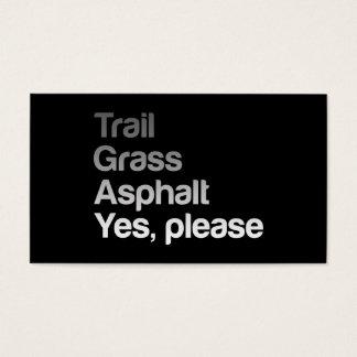 Trail Grass Asphalt Business Card