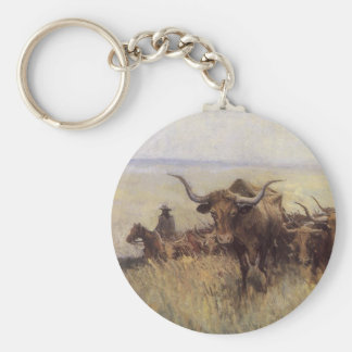 Trail Herd to Wyoming by WHD Koerner Keychain