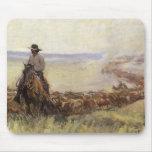 Trail Herd to Wyoming by WHD Koerner Mouse Pads