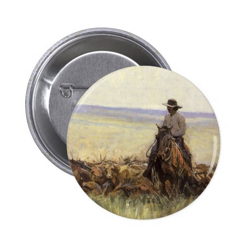 Trail Herd to Wyoming by WHD Koerner Pinback Button