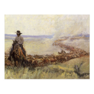 Trail Herd to Wyoming by WHD Koerner Post Card