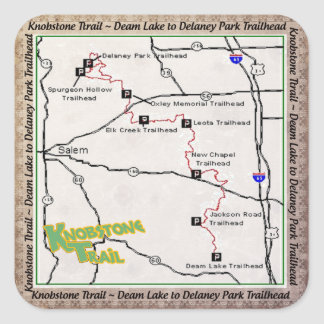 TRAIL MAP KT KNOBSTONE TRAIL DEAM TO DELANEY SQUARE STICKER