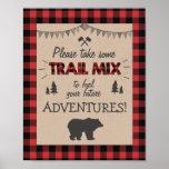 Trail mix Bar Sign Lumberjack table sign Birthday