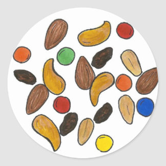 Trail Mix Camping Summer Camp Snack Food Nuts Classic Round Sticker