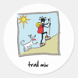 """Trail Mix"" Classic Round Sticker"
