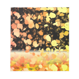 Trail Of Leaves Yellow & Gold Note Pad
