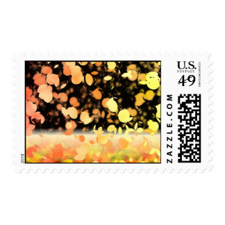 Trail Of Leaves Yellow & Gold Postage