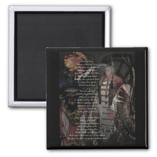 trail of tears 2 inch square magnet