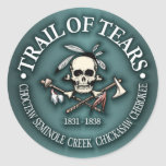 Trail of Tears Classic Round Sticker