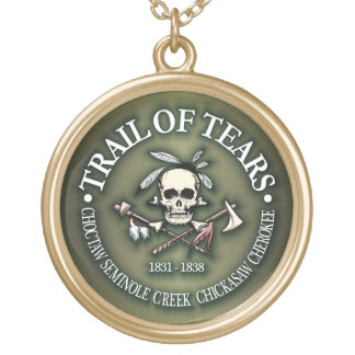 Trail of Tears Gold Plated Necklace