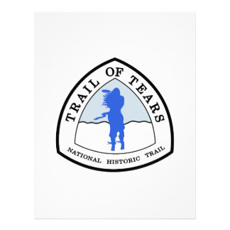 Trail of Tears National Historic Trail Sign, USA Letterhead