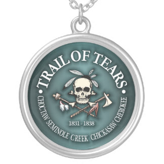 Trail of Tears Silver Plated Necklace