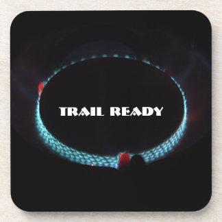 Trail ready, pressure stove beverage coaster
