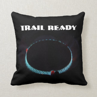 Trail ready, pressure stove throw pillow