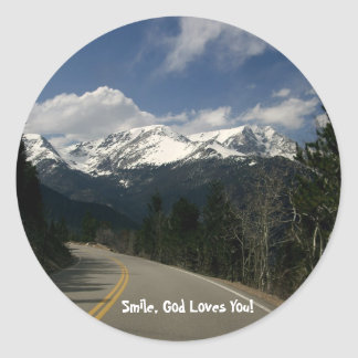 Trail Ridge Road, Rocky Mountain National Park, CO Classic Round Sticker
