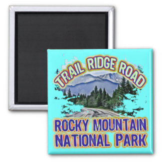 Trail Ridge Road Rocky Mountain National Park 2 Inch Square Magnet