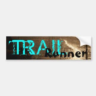 TRAIL, Runner Car Bumper Sticker