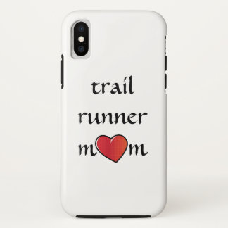 Trail Runner Mom Red Heart Design iPhone X Case