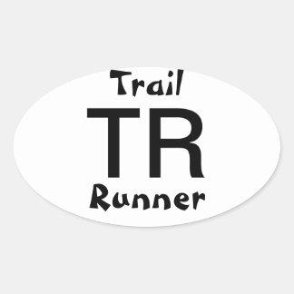 Trail Runner Oval Sticker