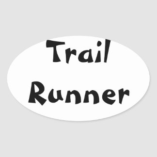 Trail Runner Oval Sticker
