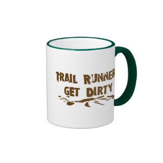 Trail Runners Get Dirty Ringer Coffee Mug